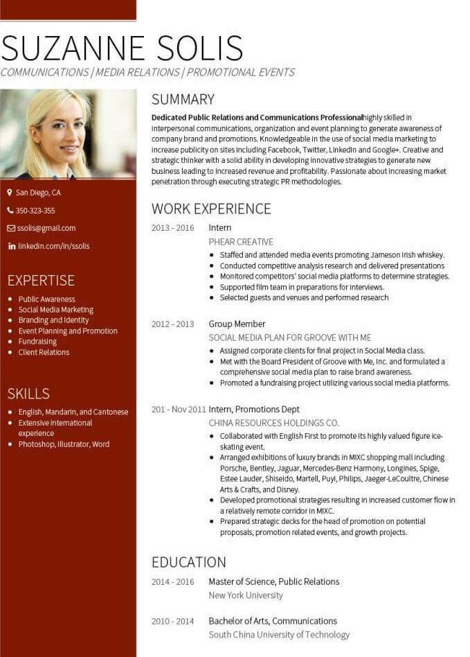 Eksempel CV tjeneste VisualCV